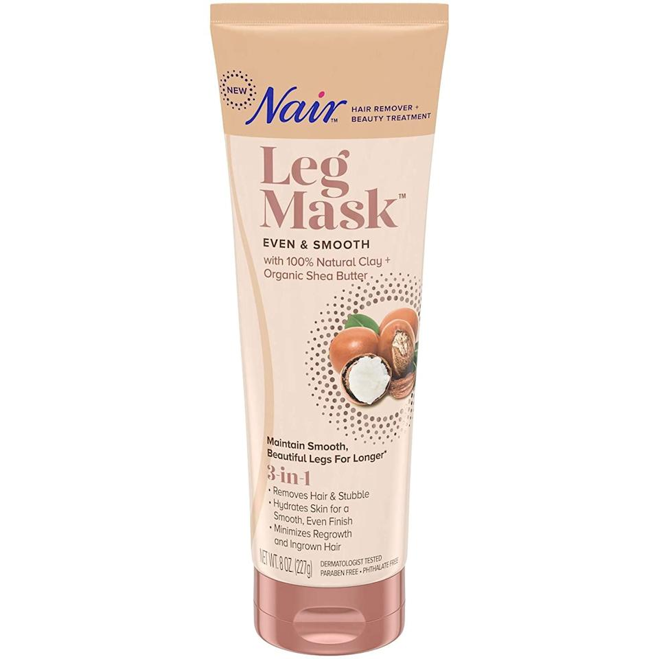 <p>If you want to hydrate your legs, this <span>Nair Leg Mask</span> ($9) will do that while removing hair.</p>