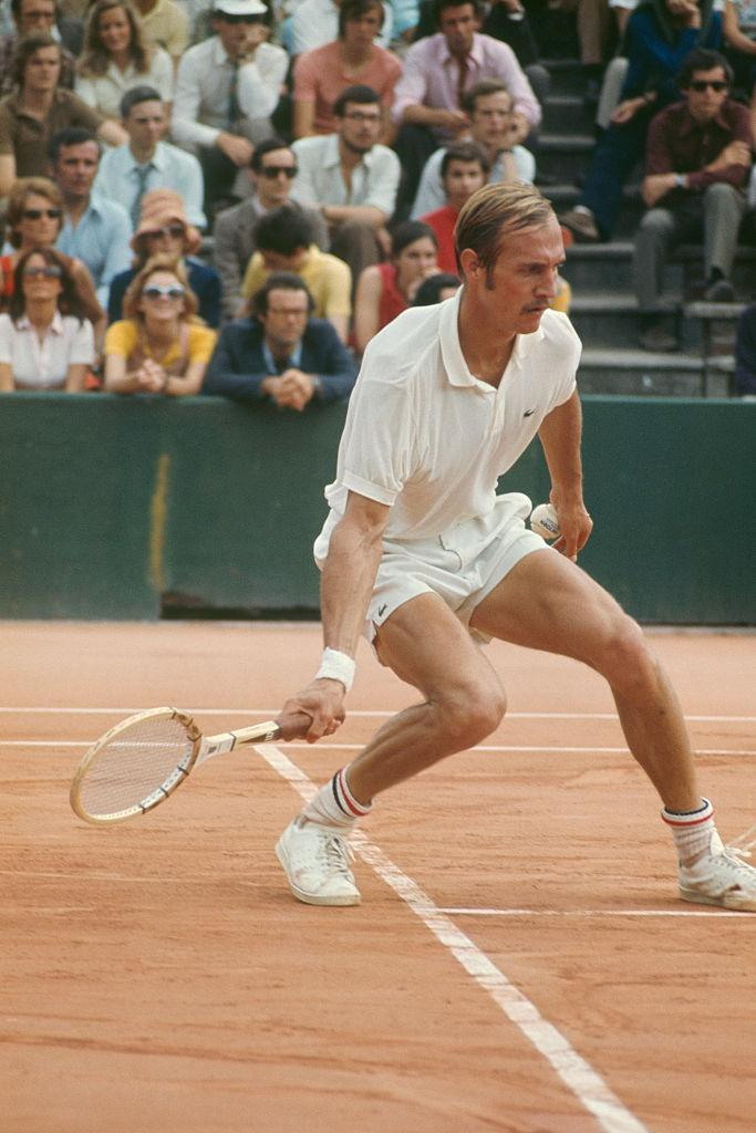 Stan Smith from the United States competes at Roland-Garros in the French Open. (Photo: Gilbert Iundt/Corbis/VCG via Getty Images)
