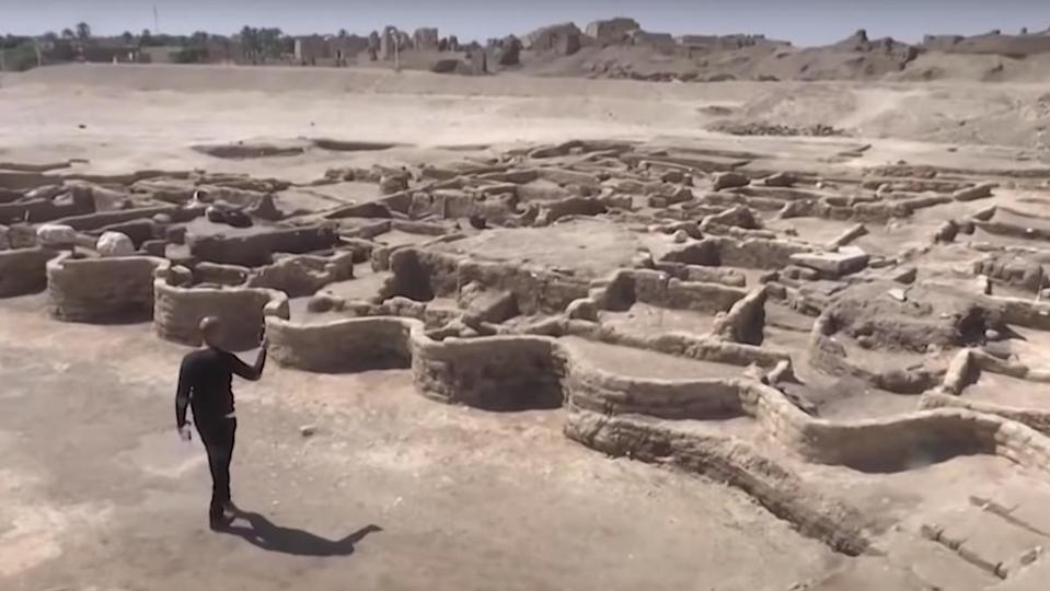 A team of archaeologists has discovered the largest ancient Egyptian city on record, and they weren't even looking for it.