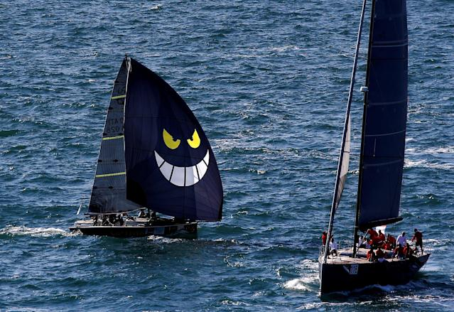 Sailing boats gather during the Barcolana regatta in front of Trieste harbour, Italy, October 8, 2017. REUTERS/Stefano Rellandini TPX IMAGES OF THE DAY