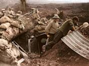 <p>Soldiers build a new dug out as they advance. (Tom Marshall/mediadrumworld.com) </p>