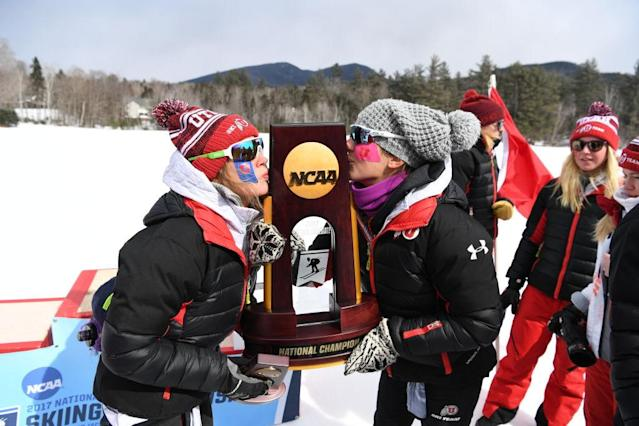 <p><strong>55. Utah</strong><br>Top 2017-18 sport: skiing. Trajectory: Down. After three straight years in the 50s, the Utes fell to No. 61 this year and longtime AD Chris Hill retired. Women's gymnastics and skiing are toting a lot of mail at Utah, with some help from women's volleyball. </p>