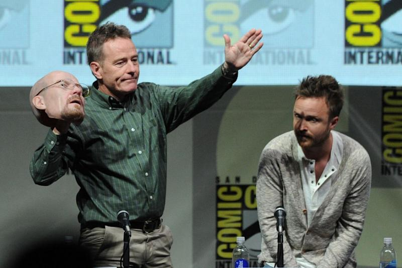 Reveal: Bryan Cranston took off his Heisenberg mask at the panel in 2013 (Kevin Winter/Getty Images)