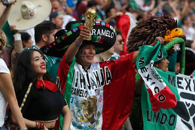 Mexico fans inspire players to historic win over World Cup holders Germany... and celebrate in style