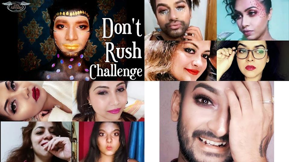Don't Rush Challenge! (MAKEUP BRUSH CHALLENGE) – 🇮🇳Indian Boys and Girls  edition - YouTube