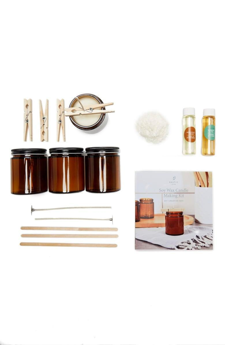 <p>This <span>Baltic Club Soy Wax Candle Making Kit</span> ($45) is both a gift and an activity.</p>