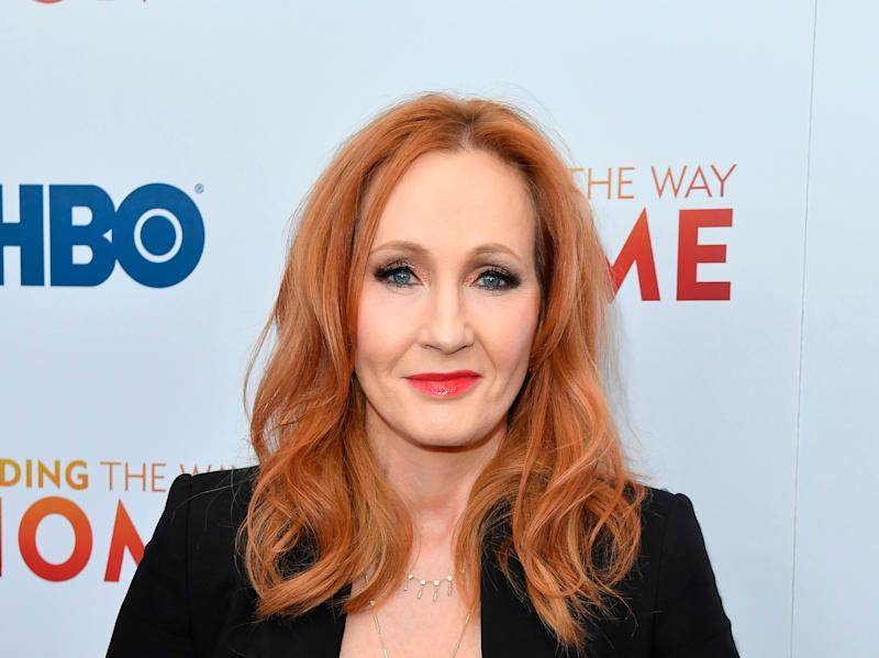 British author J. K. Rowling attends HBO's