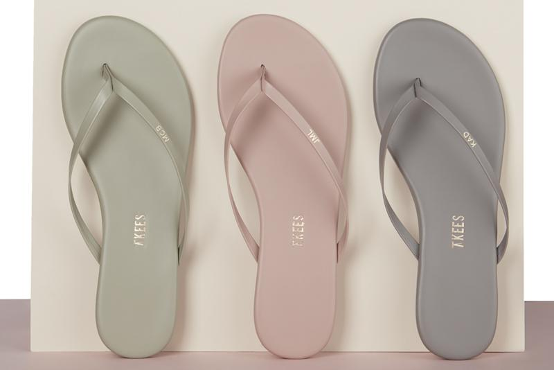 654389e0c80b0 How to Customize a Pair of Tkees Flip-Flops With Your Initials