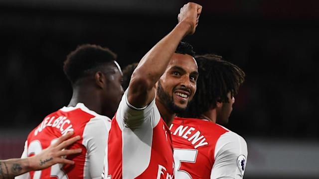 The England international is preferred to the Frenchman to lead the Gunners attack, as Wenger keeps faith in his new formation for the Foxes' visit