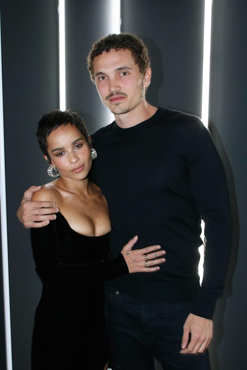 Keeping with her cool girl status, Zoë Kravitz has been so casual about the fact that the actor Karl Glusman presented her with an antique ring (which she'd been admiring on Instagram) back in February that she didn't share the news until this October—and was apparently so nonchalant about it, it came off as a joke.
