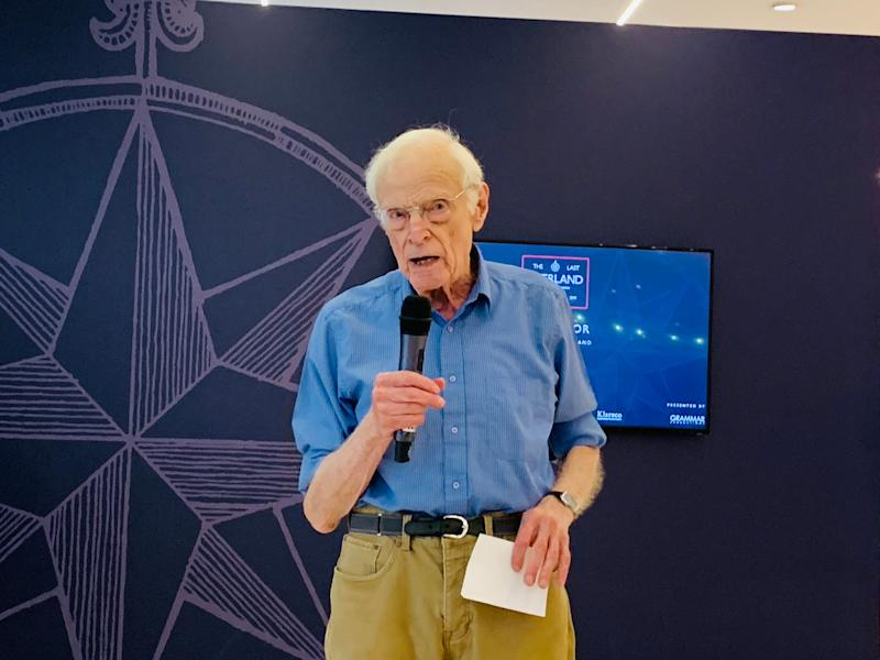 Tim Slessor of The Last Overland expedition at a press conference at the Jaguar Land Rover showroom in Singapore on 30 May 2019. (PHOTO: Teng Yong Ping/Yahoo Lifestyle Singapore)