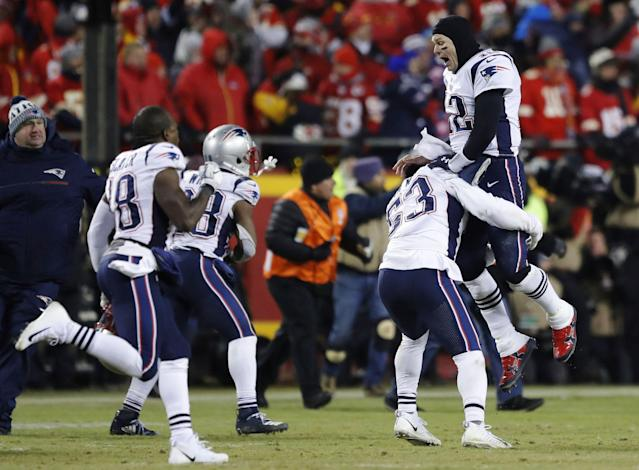 The New England Patriots won the AFC championship in January, beating the Kansas City Chiefs in overtime. (AP)