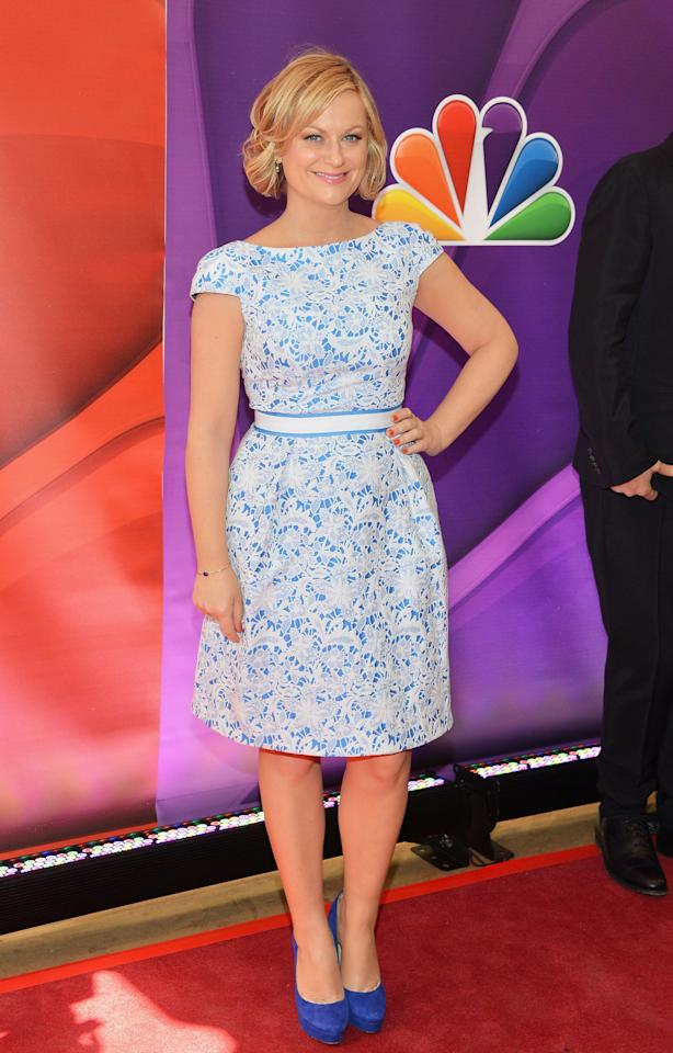 NEW YORK, NY - MAY 13:  Actress Amy Poehler attends 2013 NBC Upfront Presentation Red Carpet Event at Radio City Music Hall on May 13, 2013 in New York City.  (Photo by Slaven Vlasic/Getty Images)