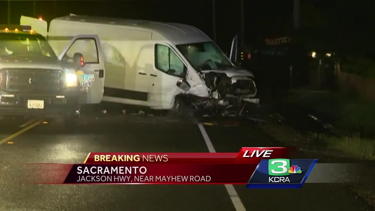 According to the CHP, the driver of a Honda Accord was driving the wrong way on the Jackson Highway and slammed head-on to a cargo van killing the driver and passenger of the Honda Accord.