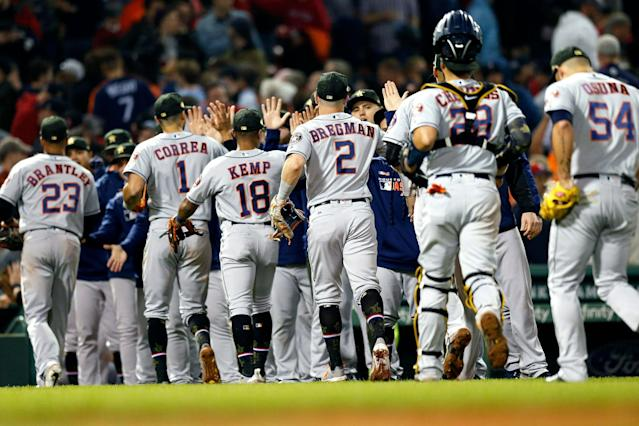 "The <a class=""link rapid-noclick-resp"" href=""/mlb/teams/houston/"" data-ylk=""slk:Houston Astros"">Houston Astros</a> are one of the most fearsome lineups in baseball. (AP Photo/Michael Dwyer)"