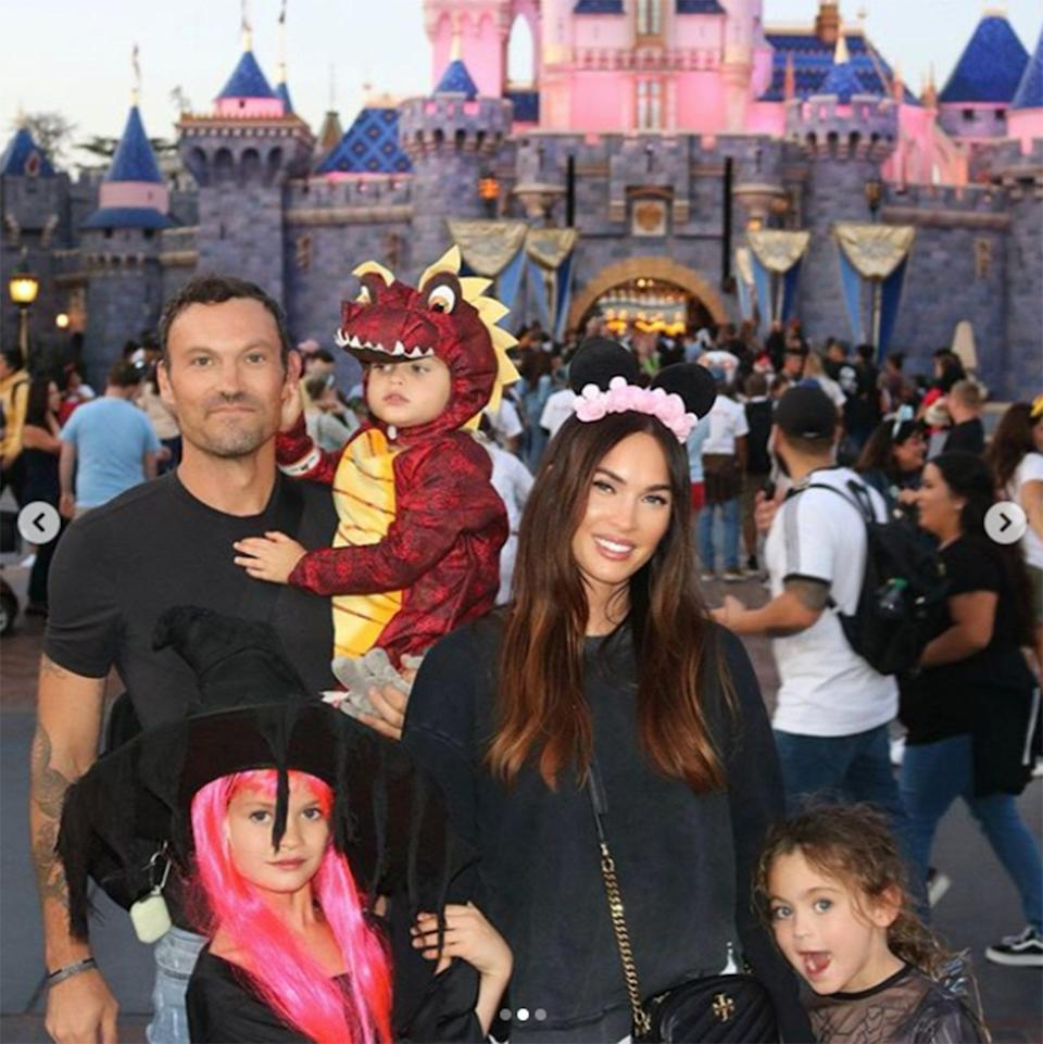 "<p>The actress, who typically keeps her children out of the spotlight, shares three sons with estranged husband Brian Austin Green: <a href=""https://people.com/parents/megan-fox-brian-austin-green-welcome-son-noah-shannon/"" rel=""nofollow noopener"" target=""_blank"" data-ylk=""slk:Noah"" class=""link rapid-noclick-resp"">Noah</a>, 8, <a href=""https://people.com/parents/megan-fox-brian-austin-green-welcome-son-bodhi-ransom/"" rel=""nofollow noopener"" target=""_blank"" data-ylk=""slk:Bodhi"" class=""link rapid-noclick-resp"">Bodhi</a>, 6, and <a href=""https://people.com/parents/megan-fox-brian-austin-green-welcome-son-journey-river/"" rel=""nofollow noopener"" target=""_blank"" data-ylk=""slk:Journey"" class=""link rapid-noclick-resp"">Journey</a>, 4.</p>"