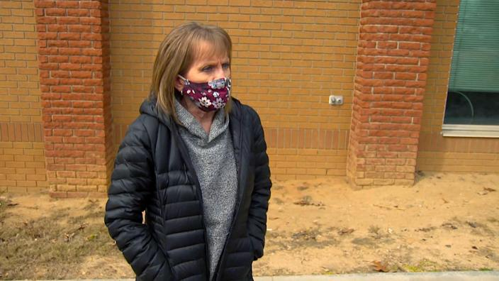 Terrie Glaude, a teacher in Elbert County, managed to squeeze-in her second shot just days before the DPH descended on the clinic. (NBC News)