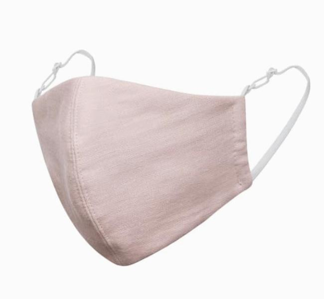 pink linen cotton high quality face mask covering