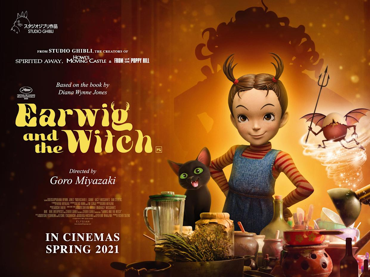 Earwig and the Witch comes to UK cinemas on 28 May. (Elysian Film Group Distribution)