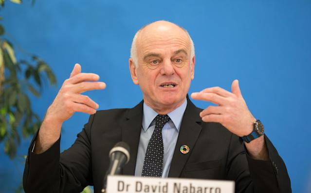 Dr David Nabarro has advised people not to get too close to each other, to prevent the spread of coronavirus. (PA)