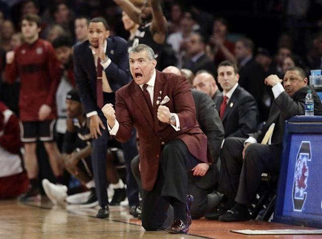 Frank Martin has gone 96-73 in his five-plus years at South Carolina. (AP)