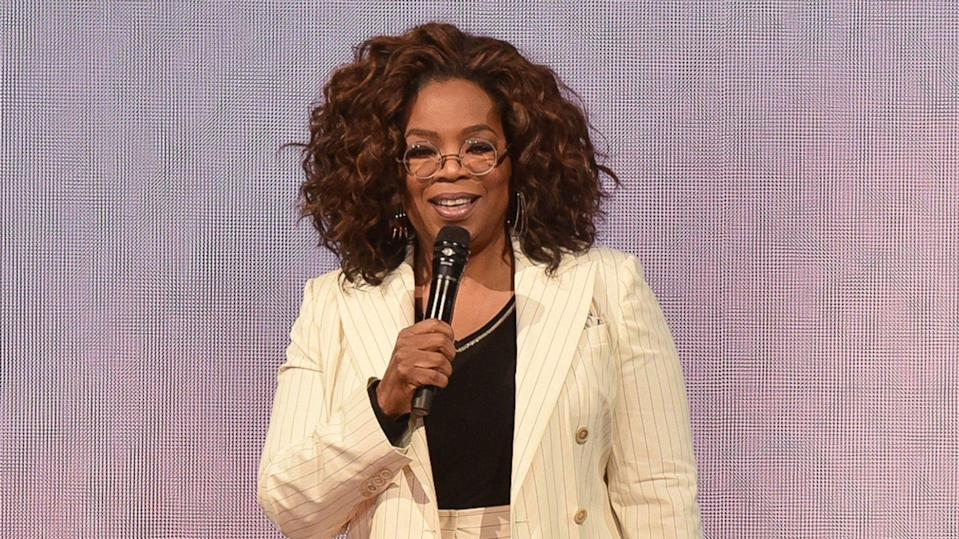 """<p>It's no surprise that Oprah Winfrey has stepped up during the COVID-19 pandemic, using her wealth to help others. In April 2020, she announced plans to donate $10 million to assist Americans in need.</p> <p>This included a $1 million donation to America's Food Fund, as well as undisclosed amounts to Minnie's Food Pantry in Plano, Texas and the Boys and Girls Club in Kosciusko, Miss., according to a press release.</p> <p><em><strong>Find Out: <a href=""""https://www.gobankingrates.com/money/wealth/oprah-other-big-name-celebs-made-fortunes/?utm_campaign=1041619&utm_source=yahoo.com&utm_content=17"""" rel=""""nofollow noopener"""" target=""""_blank"""" data-ylk=""""slk:How Oprah and These Other Big-Name Celebs Made Their Fortunes"""" class=""""link rapid-noclick-resp"""">How Oprah and These Other Big-Name Celebs Made Their Fortunes</a></strong></em></p> <p><small>Image Credits: Richard Shotwell/Invision/AP/Shutterstock</small></p>"""