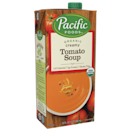 """<p>If you're a tomato soup lover, then hi, nice to meet a fellow fan, and also: You need to try this soup. It's <em>insanely </em>creamy, very balanced, and the perfect candidate for <a href=""""https://www.delish.com/cooking/recipe-ideas/a19610233/how-to-make-best-grilled-cheese/"""" rel=""""nofollow noopener"""" target=""""_blank"""" data-ylk=""""slk:grilled cheese"""" class=""""link rapid-noclick-resp"""">grilled cheese</a> dipping.</p><p><strong><em><a class=""""link rapid-noclick-resp"""" href=""""https://go.redirectingat.com?id=74968X1596630&url=https%3A%2F%2Fwww.instacart.com%2Flanding%3Fproduct_id%3D24588%26retailer_id%3D250%26region_id%3D1556681686%26gclid%3DCjwKCAiAlajvBRB_EiwA4vAqiAuKX_qR0HASJVCvdHfRF1MEUTxiBEaSZS8OzITMzhWb1iJG4xyaexoC6o4QAvD_BwE&sref=https%3A%2F%2Fwww.redbookmag.com%2Flife%2Fg35431452%2Fbest-store-bought-soups%2F"""" rel=""""nofollow noopener"""" target=""""_blank"""" data-ylk=""""slk:BUY NOW"""">BUY NOW</a> Pacific Creamy Tomato Soup, $6</em></strong></p>"""
