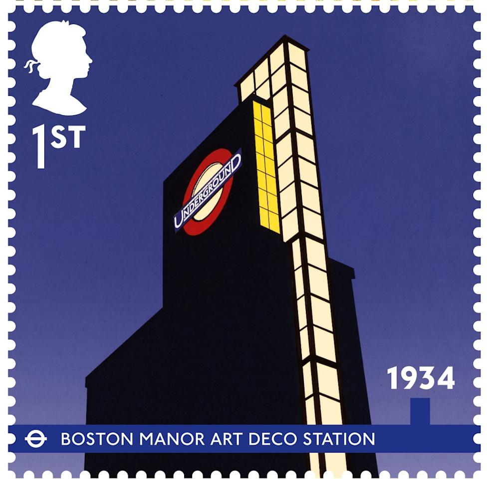 The traditional Art Deco station, Boston Manor, completed in 1934 (Royal Mail)