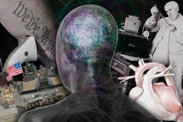 University of Southern California neuroscientists are studying how political beliefs affect the way people process new information. (Yahoo News photo Illustration; photos: AP, Eric Gay/AP, Andrew Bret Wallis/Getty Images, AP 2)