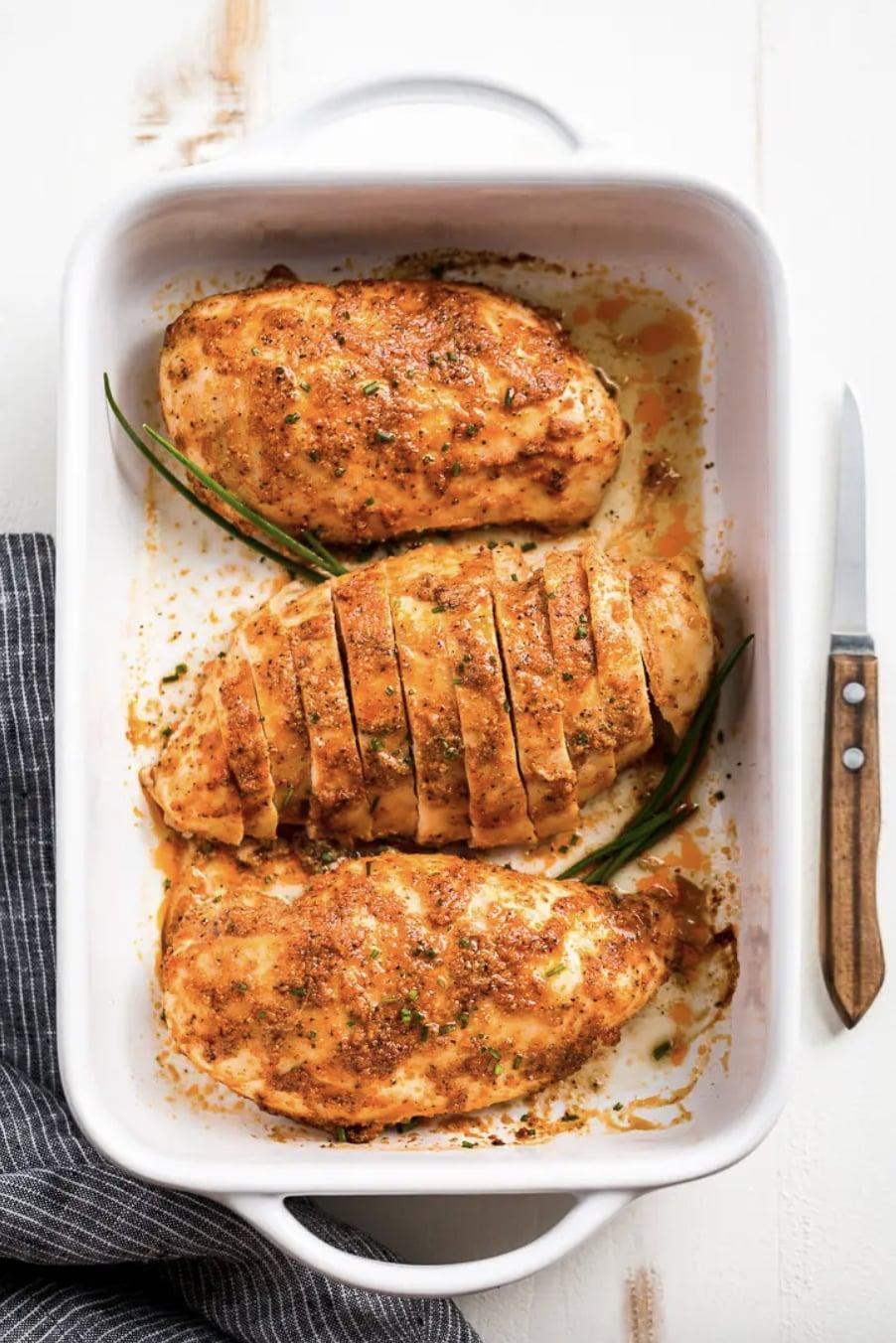 "<p>Forget the fish! At-home chefs are craving baked chicken instead. Made with ingredients found in the spice rack, this recipe takes the traditional chicken up a notch.</p> <p><strong>Get the recipe</strong>: <a href=""https://getinspiredeveryday.com/food/the-best-baked-chicken-breasts/"" class=""link rapid-noclick-resp"" rel=""nofollow noopener"" target=""_blank"" data-ylk=""slk:baked chicken"">baked chicken</a></p>"