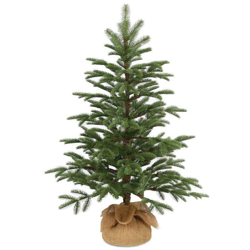 Industrial Lodge Home 3' Green Spruce Artificial Christmas Tree