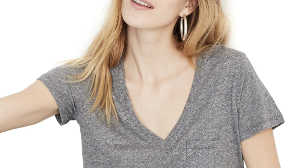 This popular V-neck T-shirt from Madewell is a shopper favourite, and it's only $20 at Nordstrom.
