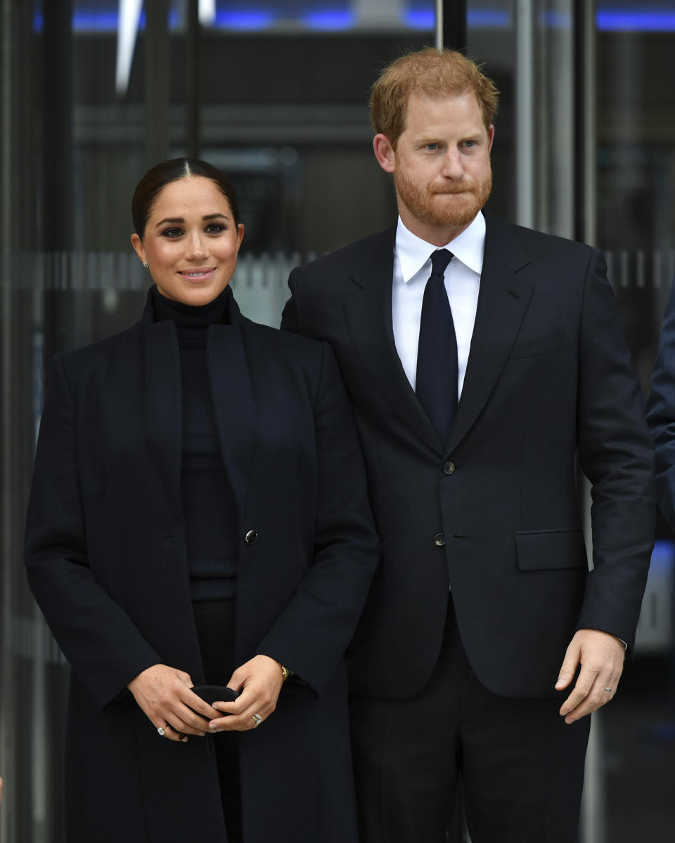 Photo by: NDZ/STAR MAX/IPx 2021 9/23/21 Prince Harry and Meghan, The Duke and Duchess of Sussex visit One World Observatory in New York City.