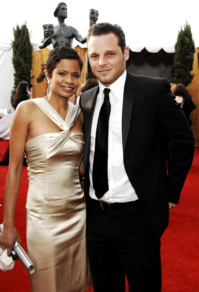 "<a href=""/justin-chambers/contributor/32958"">Justin Chambers</a> and wife Keisha Chambers at the <a href=""/the-2007-screen-actors-guild-awards/show/40550"">13th Annual Screen Actors Guild Awards</a>."