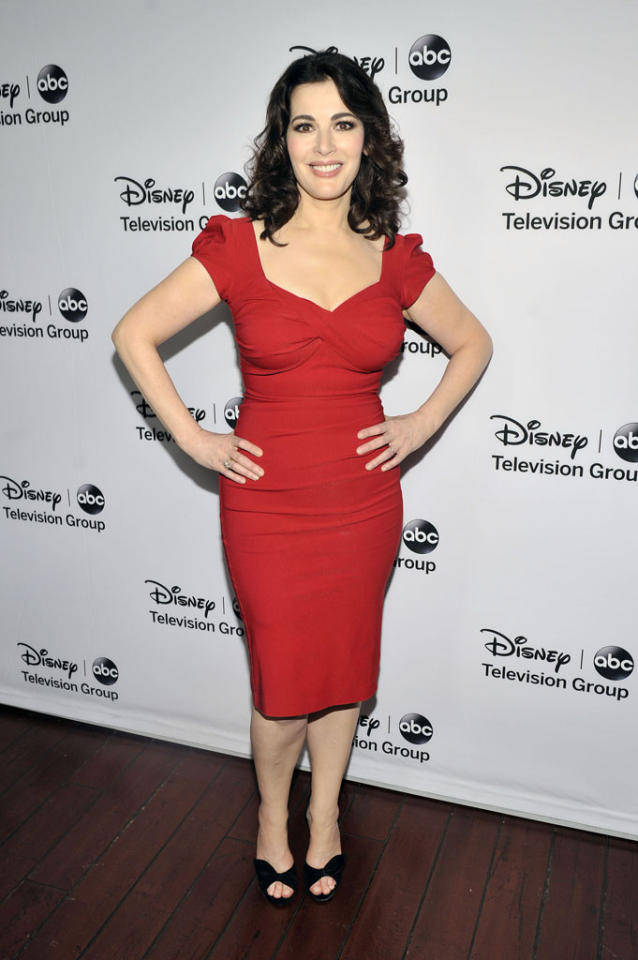 "Nigella Lawson (""The Taste"") attends the Disney ABC Television Group 2013 TCA Winter Press Tour at The Langham Huntington Hotel and Spa on January 10, 2013 in Pasadena, California."