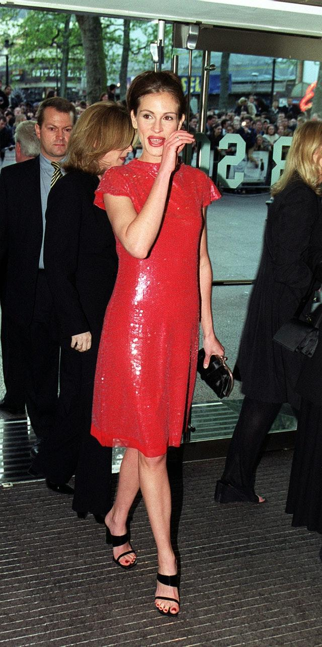Julia Roberts at the Notting Hill world premiere