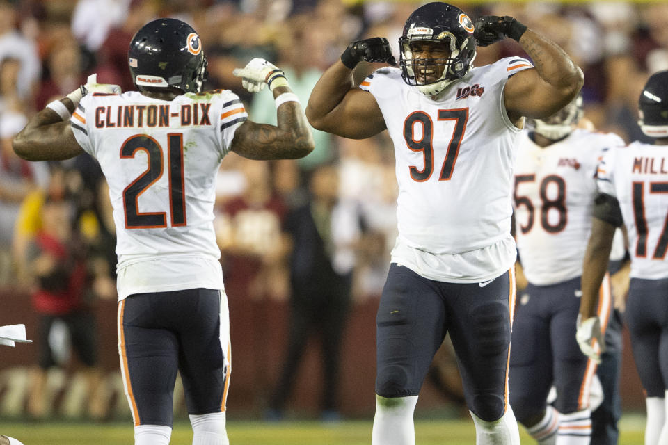 Chicago Bears safety Ha Ha Clinton-Dix (21) and defensive tackle Nick Williams (97)