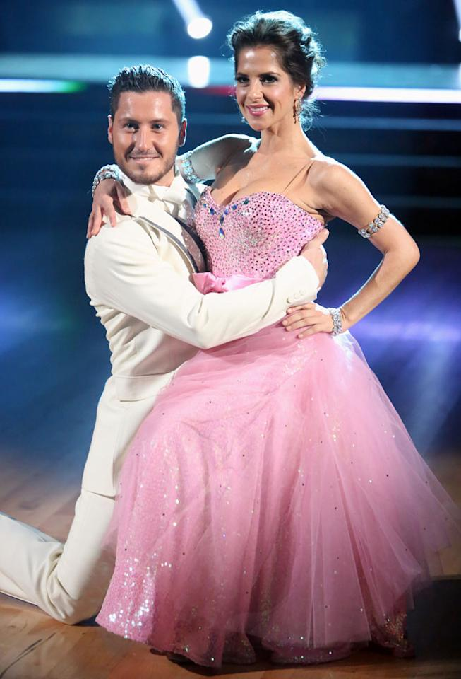 "<b>Val Chmerkovskiy & Kelly Monaco</b><br>""All-Stars"" Season<br><br>Val and Kelly are leading the competition on ""DWTS All-Stars"" thanks to their intense chemistry. It's a chemistry that even co-host Brooke Burke-Charvet can't ignore, which explains all her questions about the real nature of their partnership during the show. However, despite all the cuddles and stage kisses, these two maintain that they are just friends."