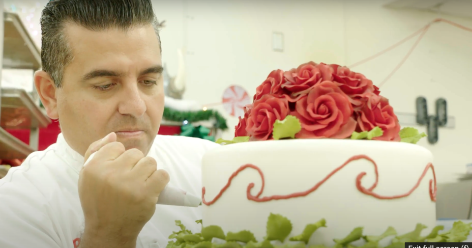 The Cake Boss competes against expert craft masters on Food Network's Buddy vs. Christmas, premiering on Sunday, November 22nd at 10pm ET/PT (Courtesy: Food Network).
