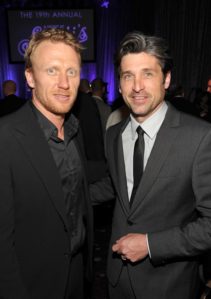 "Patrick Dempsey, who presented Robert Iger with his award, caught up with his ""Grey's Anatomy"" co-star Kevin McKidd during the dinner. John Shearer/<a href=""http://www.gettyimages.com/"" target=""new"">GettyImages.com</a> - March 16, 2011"
