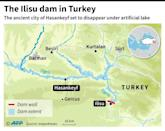Map showing the extent of the Ilisu dam in Turkey which is set to flood the ancient city of Hasankeyf