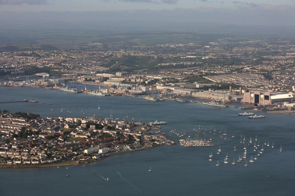 DEVON, ENGLAND - SEPTEMBER 2006: Torpoint and Plymouth Naval Base in Devon. on 8th September 2006. (Photo by David Goddard/Getty Images)