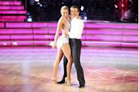 "<p>Romances between contestants are a big topic of debate on <em>DWTS</em> and <a href=""https://www.glamour.com/story/dancing-with-the-stars-secrets"" rel=""nofollow noopener"" target=""_blank"" data-ylk=""slk:producers love them"" class=""link rapid-noclick-resp"">producers love them</a>, because they help generate buzz for the show. While a host of legitimate relationships have come out of the reality show, most of the flings fade with the spotlight.</p>"