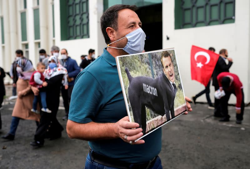 FILE PHOTO: Protest against the publication of a cartoon of Prophet Mohammad