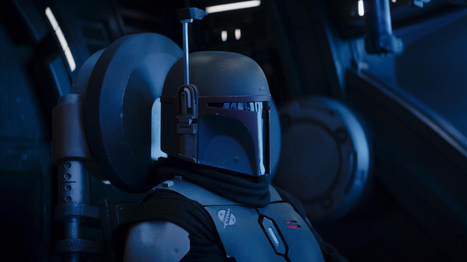Temuera Morrison as Boba Fett in 'The Mandalorian'. (Credit: Disney+)