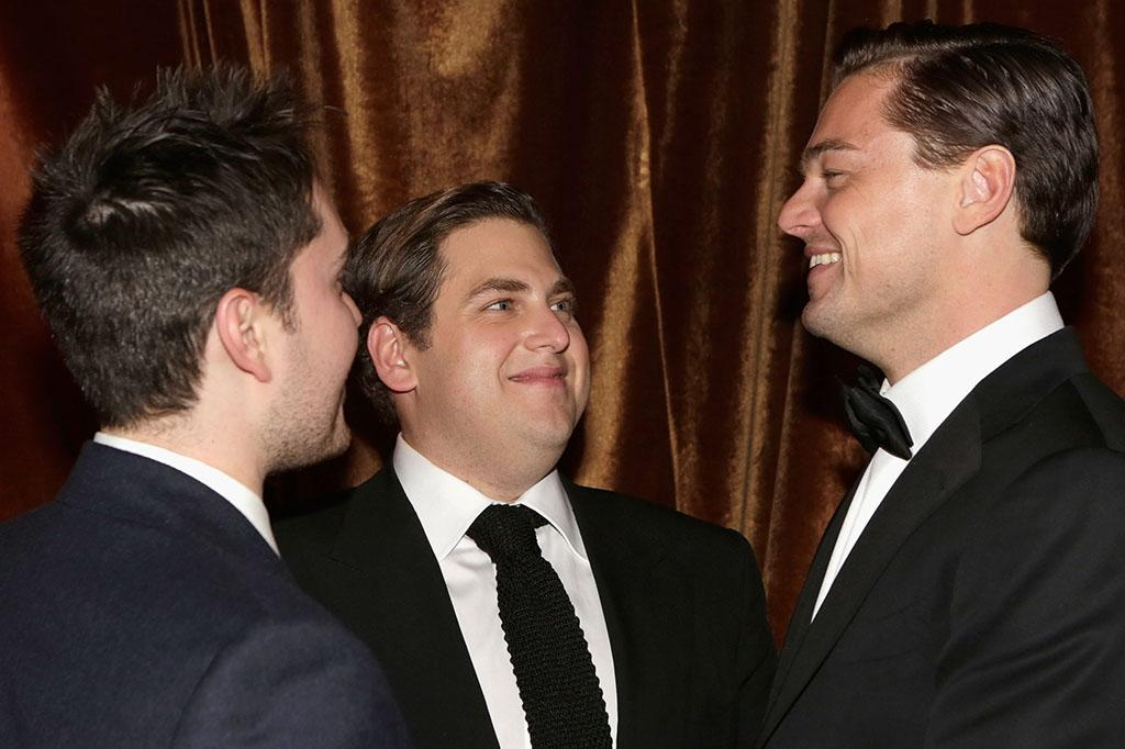 Jonah Hill and Leonardo DiCaprio attends the The Weinstein Company's 2013 Golden Globe Awards after party presented by Chopard, HP, Laura Mercier, Lexus, Marie Claire, and Yucaipa Films held at The Old Trader Vic's at The Beverly Hilton Hotel on January 13, 2013 in Beverly Hills, California.