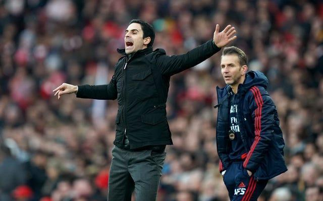 Stuivenberg (right) will now focus full-time on his role as a coach at Arsenal, working under manager Mikel Arteta.
