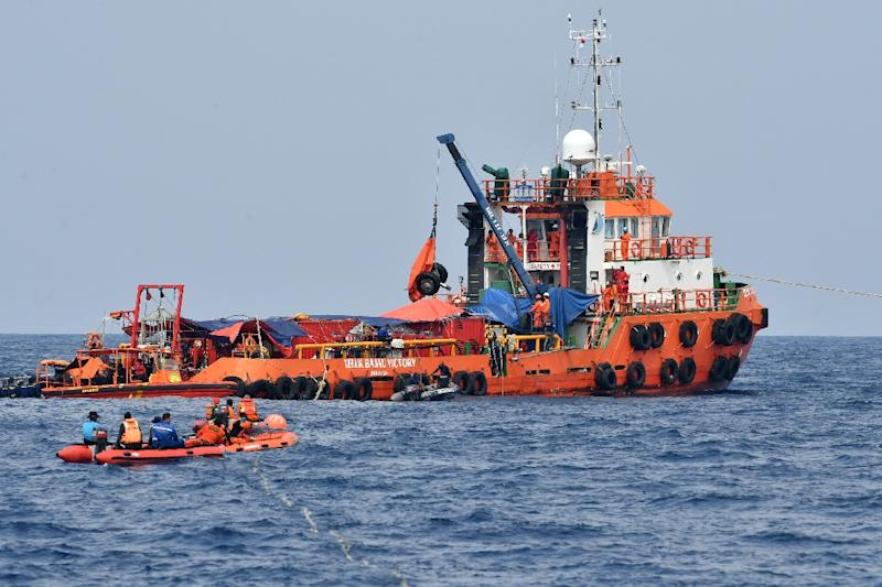 Rescuers have recovered body parts and pieces of the plane's engines, wheels and seats from the sea