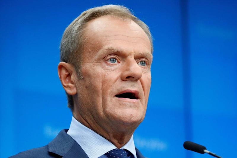 European Council president Donald Tusk made clear that the EU will grant an extension (Francois Lenoir/Reuters)