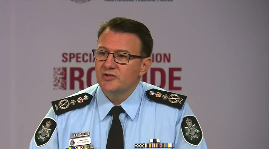 Commissioner Reece Kershaw explained on Tuesday the significance of operation Ironside. Source: ABC